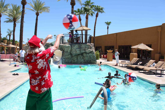 Santa Summer Safety Splash