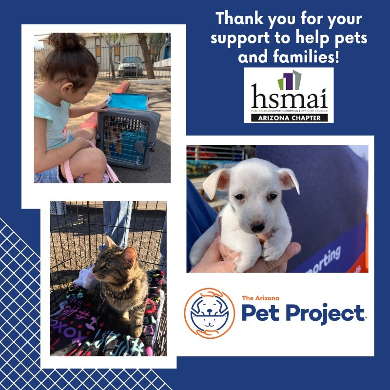 Thank You for your support to help pets and families!